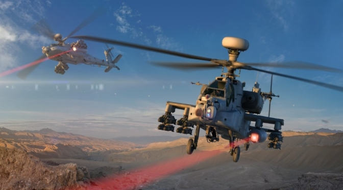 The Army is flight testing helicopter-mounted laser weapons