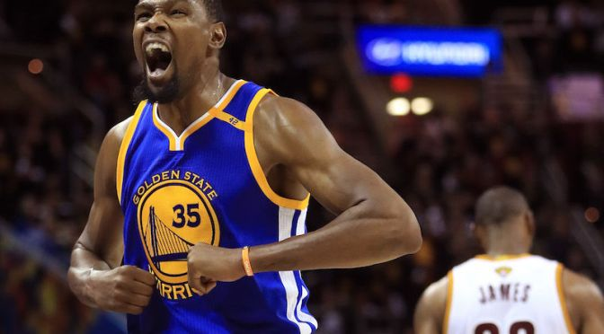 KEVIN DURANT'S EPIC 3-POINTER CRUSHED THE CAVS AND MAYBE CLINCHED NBA CHAMPIONSHIP FOR THE WARRIORS