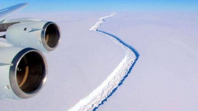 Collapse of Enormous Antarctic Ice Shelf Imminent
