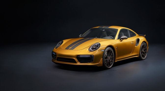 THIS ULTRA-EXCLUSIVE SPECIAL EDITION PORSCHE 911 TURBO S IS A 205-MPH GOLDEN CHARIOT