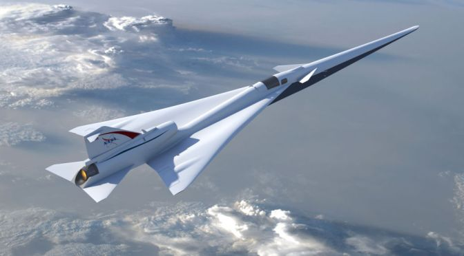 NASA HOPES TO FLY YOU FROM COAST TO COAST IN TWO HOURS FLAT WITH THIS BOOM-FREE SUPERSONIC JET
