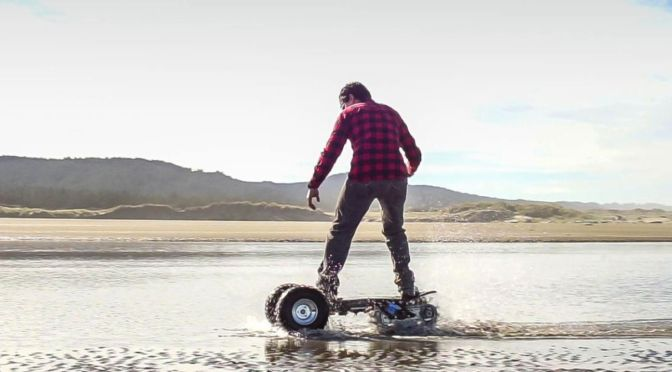 This Insane Off-Road Skateboard Conquers Sand, Snow, Dirt and Pavement
