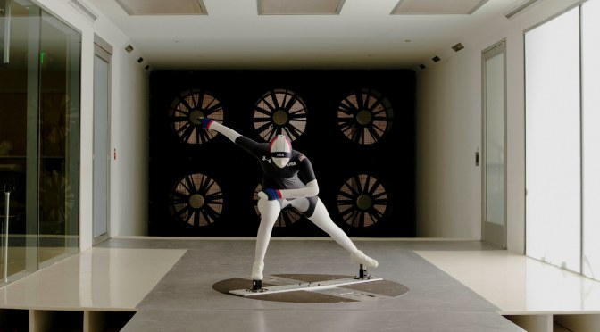UNDER ARMOUR'S OLYMPIC SPEED SKATING SUIT LOOKS TO DEFEAT PHYSICS