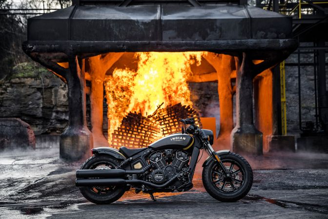 THE JACK DANIEL'S EDITION INDIAN SCOUT BOBBER IS AN INSTANT AMERICAN CLASSIC