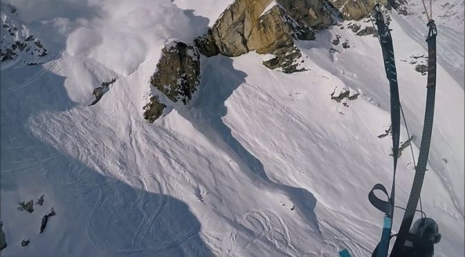 Watch a Parachuting Skier Take Flight Moments Before an Avalanche Buries Him Alive