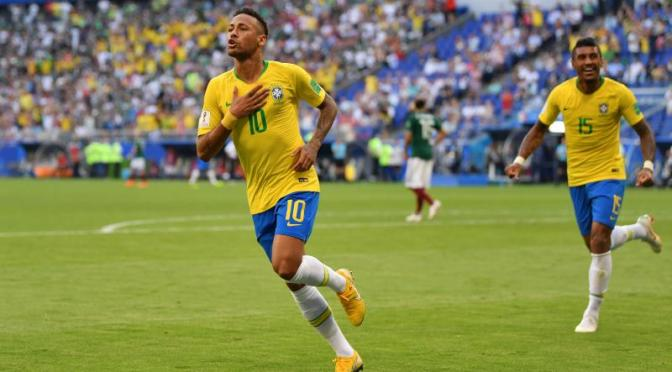 Neymar, Roberto Firmino Push Brazil Past Mexico at 2018 World Cup