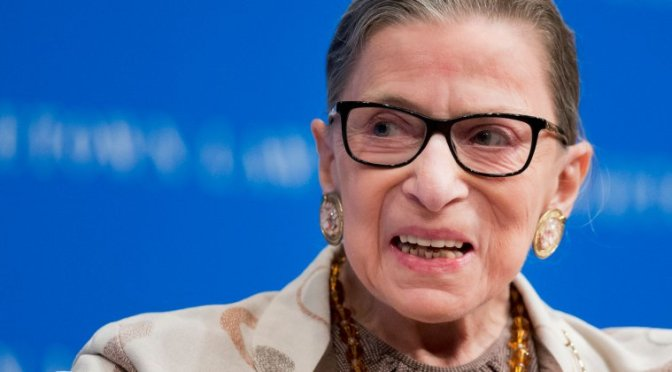 Ruth Bader Ginsburg hospitalized after breaking 3 ribs in a fall