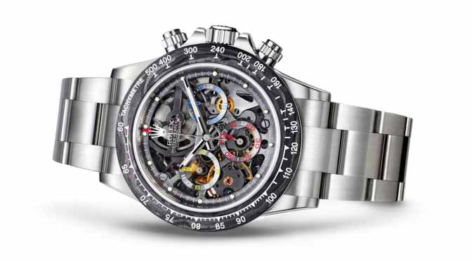 THE WORLD'S FIRST SKELETON-DIAL ROLEX DAYTONA WAS MADE FOR A FORMULA 1 CHAMPION