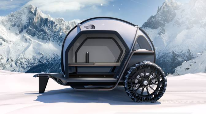 BMW DESIGNS LIGHTWEIGHT CAMPER WITH THE NORTH FACE'S FUTURISTIC NEW FABRIC