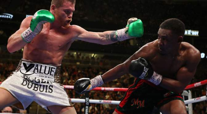 CANELO ALVAREZ BEATS DANIEL JACOBS BY UNANIMOUS DECISION TO WIN UNIFIED MIDDLEWEIGHT TITLE