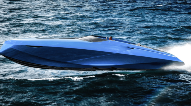 ITALIAN DESIGN STUDIO OFFICINA ARMARE REVEALS LAMBORGHINI-INSPIRED CRUISER BOAT