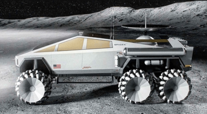 SPACEX CYBERTRUCK CONCEPT PUTS TESLA ON THE MOON