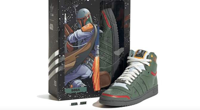 ADIDAS CELEBRATES 40TH ANNIVERSARY OF 'THE EMPIRE STRIKES BACK' WITH BOBA FETT HIGH TOPS