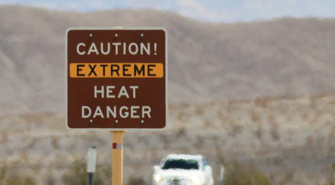 DEATH VALLEY HITS 130 DEGREES, THE HOTTEST TEMPERATURE EVER RECORDED ON EARTH