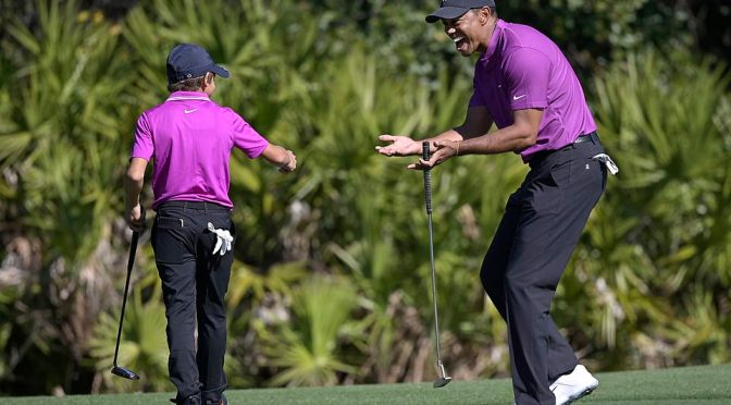 Tiger Woods' 11-Year-Old Son Charlie Puts on Impressive Performance at PNC Championship