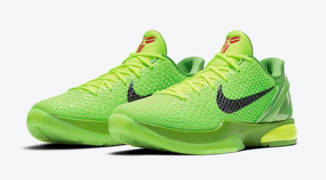 'Grinch' Nike Kobe 6 Protro Releasing on Dec. 24