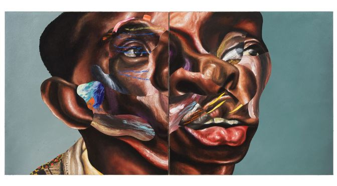 Nathaniel Mary Quinn Unveils New 'Father Stretch My Hands' Diptych Painting