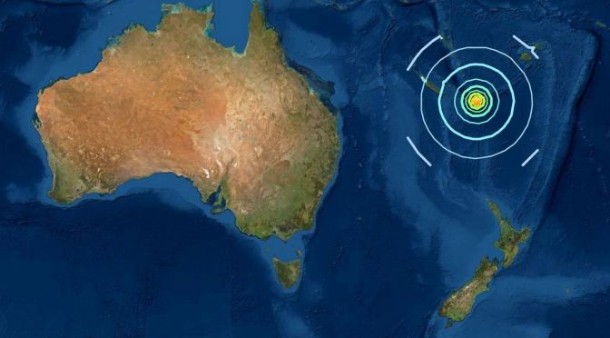 7.7 Magnitude Earthquake Strikes South Pacific Ocean