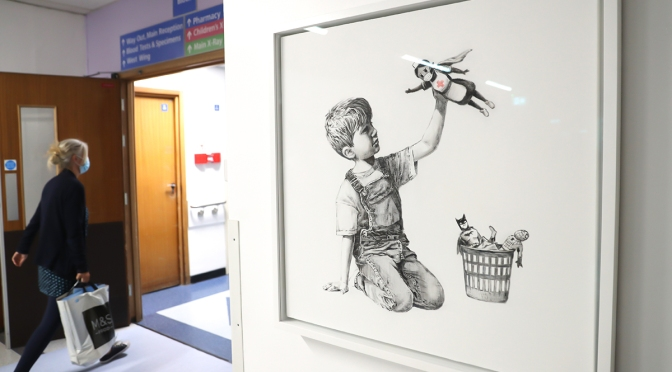 Banksy's 'Game Changer' Sets New Auction World Record at $23 Million USD