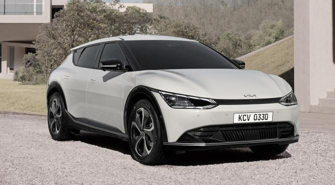 Kia offers a first look at its new EV6 electric car