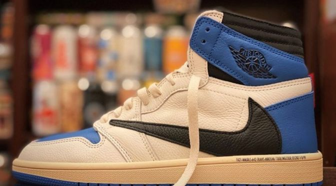 "Best Look Yet at fragment design and Travis Scott's Air Jordan 1 ""Cactus Jack Royal"""