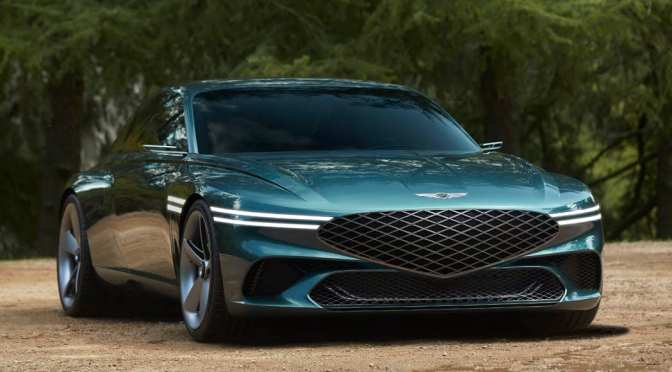 The Genesis X is a curvy, high-tech luxury EV concept