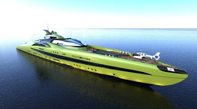 Crescere Concept Yacht – 132 meters of innovation and luxury