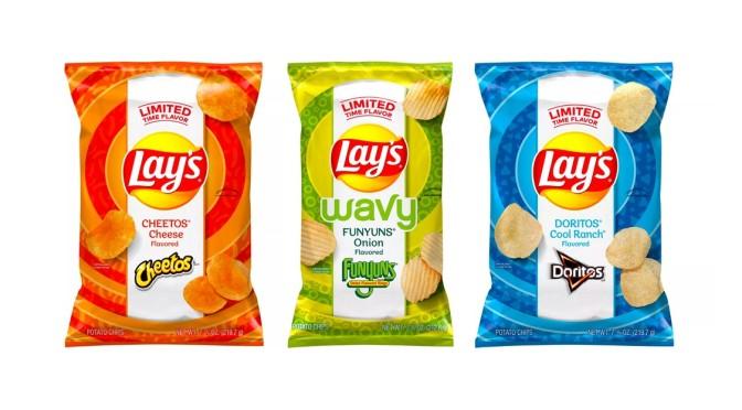 Lay's Drops Doritos Cool Ranch, Cheetos Cheese & Funyuns Onion-Flavored Chips